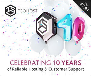 Tsohost celebrates 10 years of hosting!